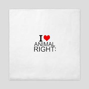 I Love Animal Rights Queen Duvet