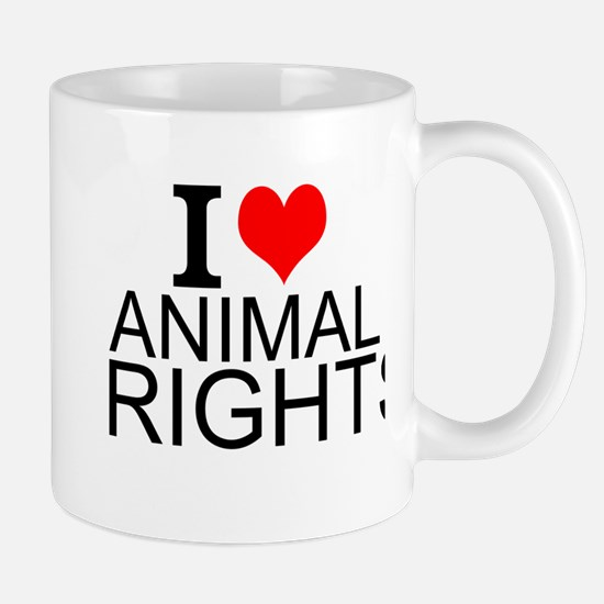 I Love Animal Rights Mugs