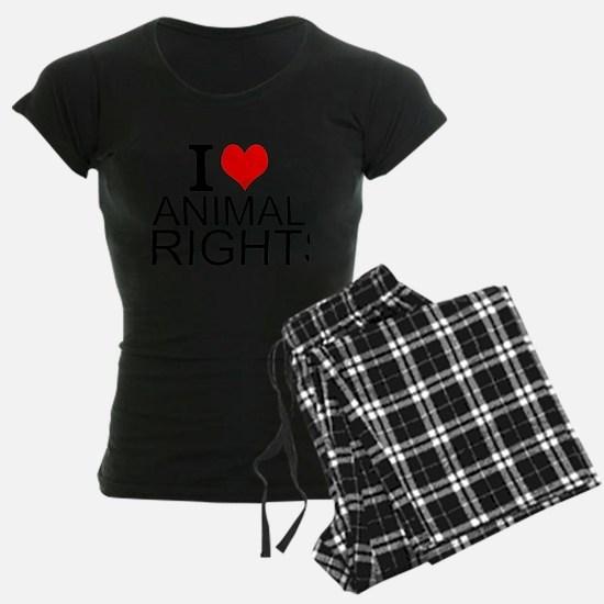 I Love Animal Rights Pajamas