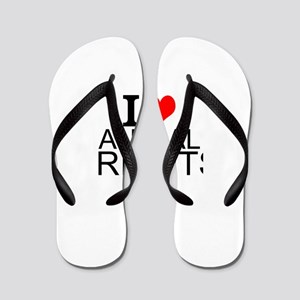 I Love Animal Rights Flip Flops