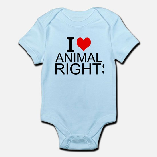 I Love Animal Rights Body Suit