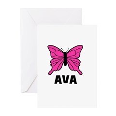 Butterfly - Ava Greeting Cards (Pk of 10)