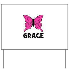 Butterfly - Grace Yard Sign