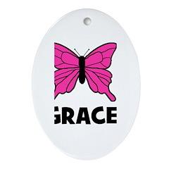 Butterfly - Grace Oval Ornament