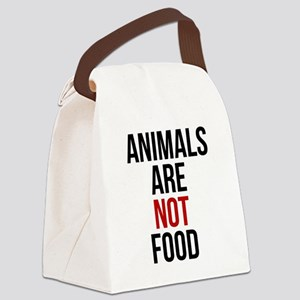Animals Are Not Food Canvas Lunch Bag