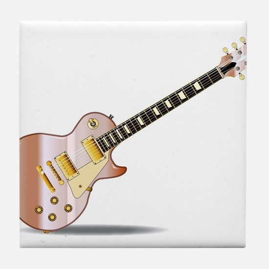 Pink Solid Blues Tile Coaster