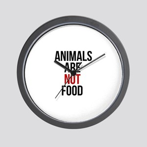 Animals Are Not Food Wall Clock