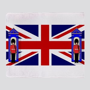 Union Jack With Guards Throw Blanket