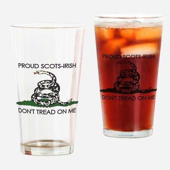 Scots-Irish - Don't Tread On Me Drinking Glass