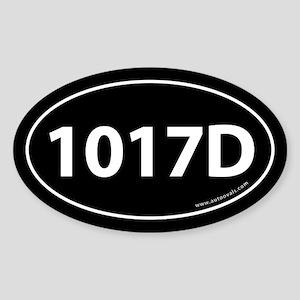 1017D Auto Sticker -Black (Oval)