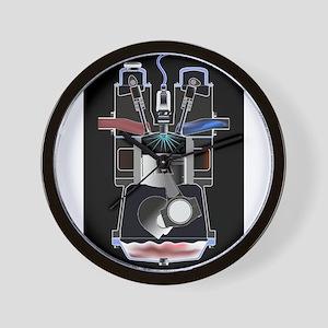 Four Stroke Petrol Engine Wall Clock