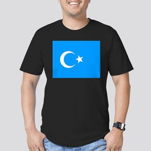 Uighur Flag Men's Fitted T-Shirt (dark)