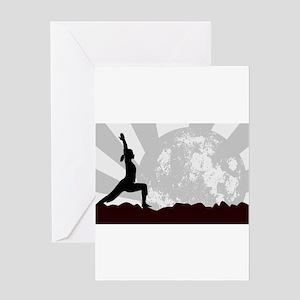 Yoga Landscape Asana Greeting Cards
