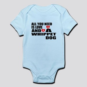 All You Need Is Love Whippet D Baby Light Bodysuit
