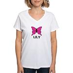 Butterfly - Lily Women's V-Neck T-Shirt