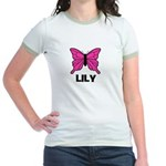 Butterfly - Lily Jr. Ringer T-Shirt