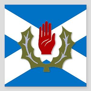 "Ulster-Scots / Scots-Iri Square Car Magnet 3"" x 3"""