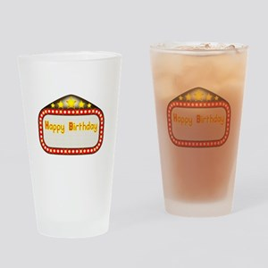 Happy Birthday Theatre Marquee Drinking Glass