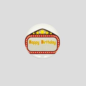 Happy Birthday Theatre Marquee Mini Button