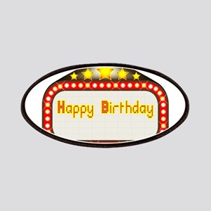 Happy Birthday Theatre Marquee Patch