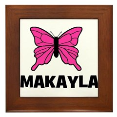 Butterfly - Makayla Framed Tile