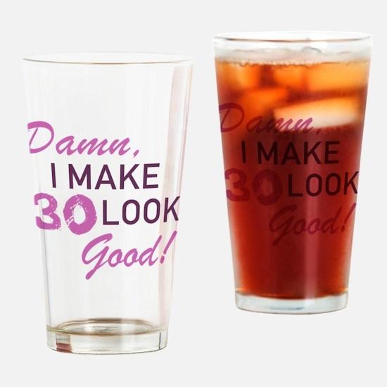 Unique 30th birthday Drinking Glass
