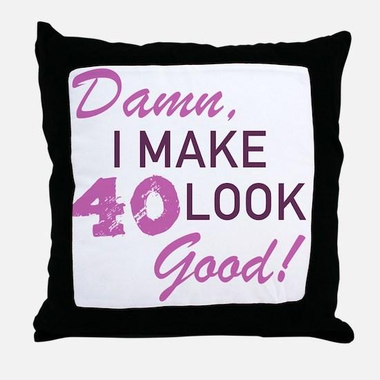 Funny Sexy 40 Throw Pillow