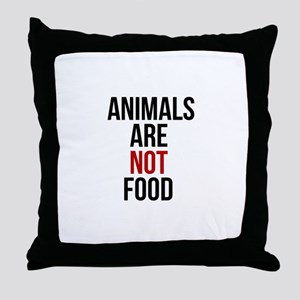 Animals Are Not Food Throw Pillow