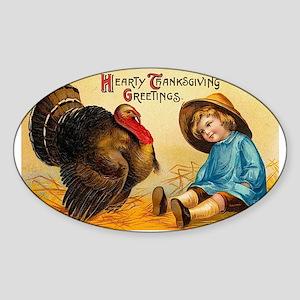Cute Vintage Thanksgiving Greeting Sticker