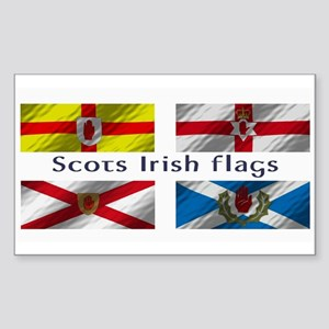 Scots-Irish flags Sticker