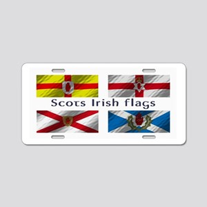Scots-Irish flags Aluminum License Plate