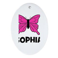 Butterfly - Sophia Oval Ornament