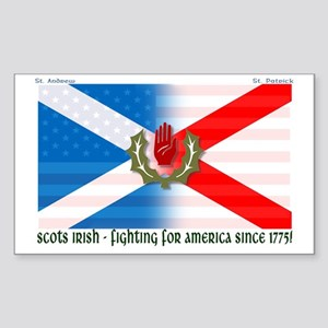 Scots-Irish - fighting for america Sticker