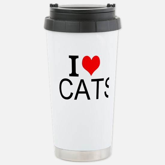 I Love Cats Travel Mug