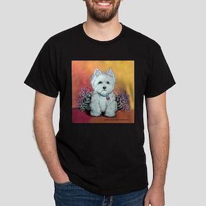 West Highland White Portrait Dark T-Shirt