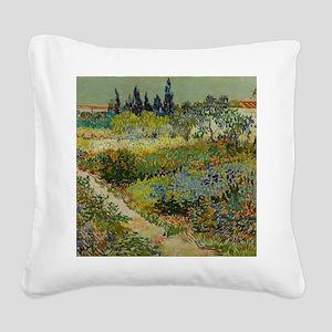Garden at Arles - Van Gogh Square Canvas Pillow