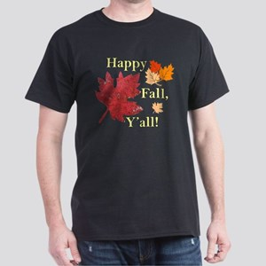 Happy Fall Y'all With Leaves T-Shirt