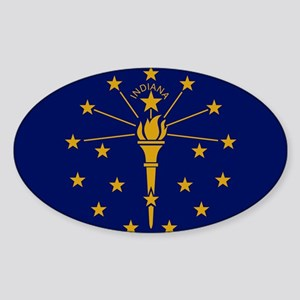 Flag of Indiana - Indiana state flag Sticker
