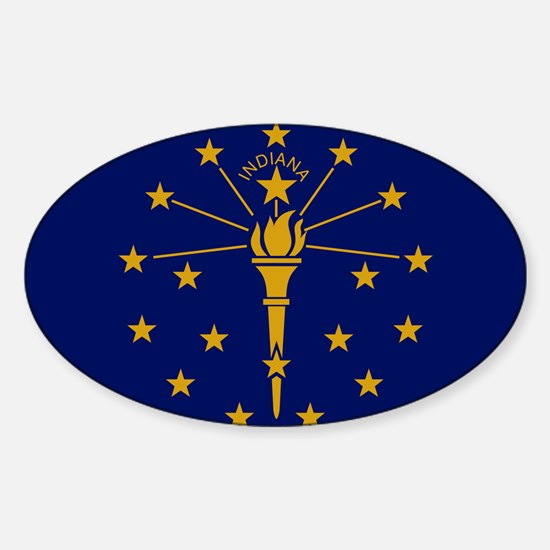 Flag of Indiana - Indiana state flag Decal