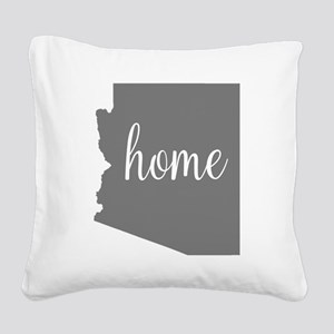 Arizona Home Square Canvas Pillow