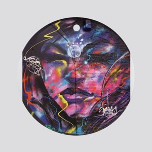 Psychedelic Psychic Mural Round Ornament