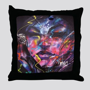 Psychedelic Psychic Mural Throw Pillow