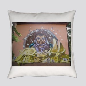 Street Art Miner Everyday Pillow