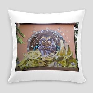 Street Art Miner Everyday Pillow