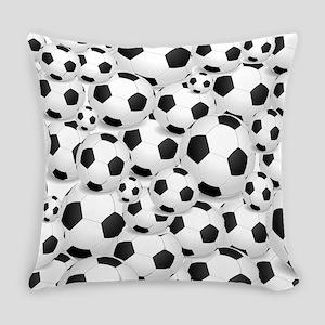 Soccer Ball Pile Everyday Pillow