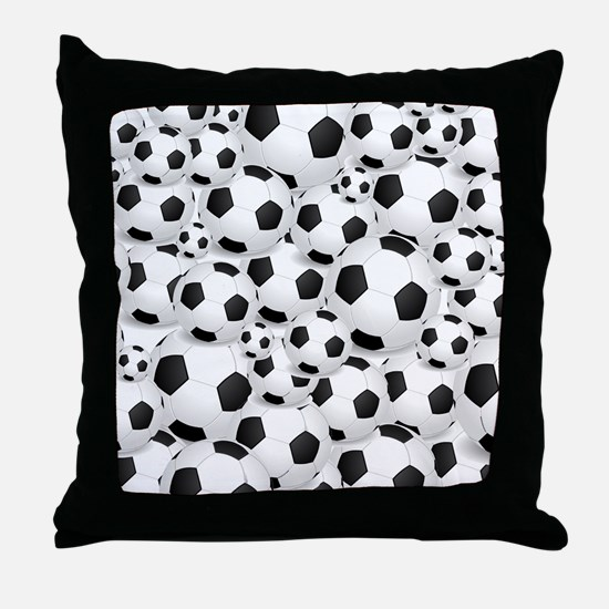 Soccer Ball Pile Throw Pillow