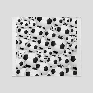 Soccer Ball Pile Throw Blanket