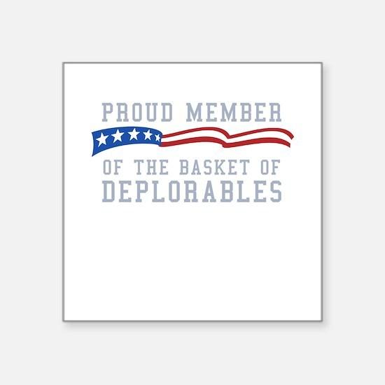 "Basket of Deplorables Square Sticker 3"" x 3"""