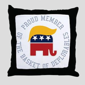 Basket of Deplorables Throw Pillow