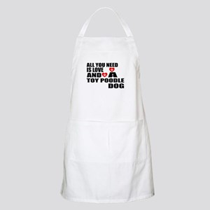 All You Need Is Love Toy Poodle Dog Light Apron